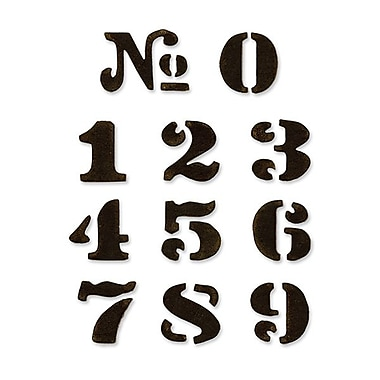 Sizzix® Movers & Shapers Magnetic Die Set, Cargo Stencil Number Set