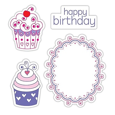 Sizzix® Framelits Die Set With Stamps, Happy Birthday Cupcakes