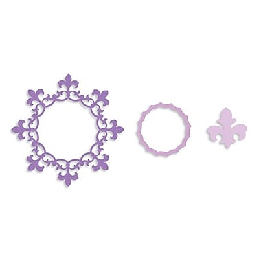 Sizzix® Framelits Die Set, Frame Circle With Fleur de Lis Edging