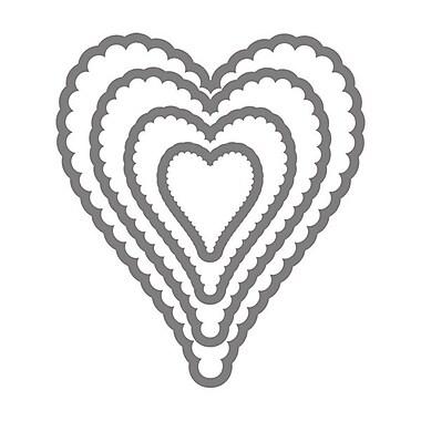 Sizzix® Framelits Die Set, Heart, Scallop 2#