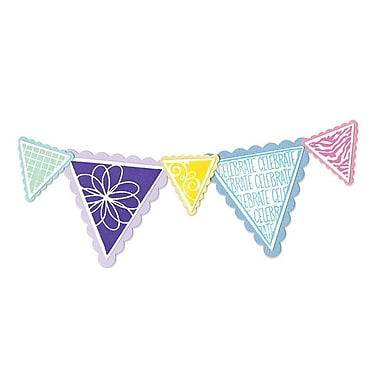 Sizzix® Framelits Die Set With Stamps, Banners & Pennant