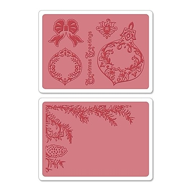 Sizzix® Framelits Die Set With Textured Impressions, Pinecone & Ornament Set