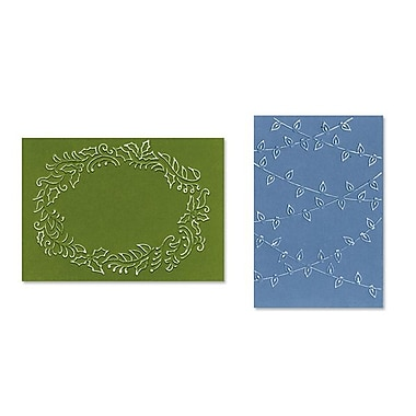 Sizzix® Textured Impressions Embossing Folder, Christmas Lights and Holly Set