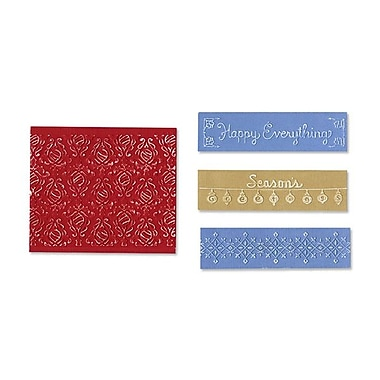 Sizzix® Textured Impressions Embossing Folder, Holiday Damask Set