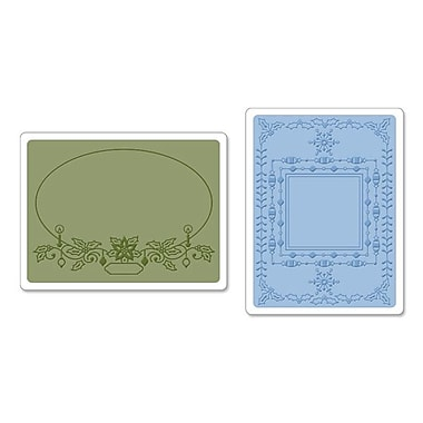 Sizzix® Textured Impressions Embossing Folder, Holiday Frames Set