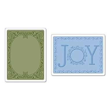 Sizzix® Textured Impressions Embossing Folder, Holiday Joy Set