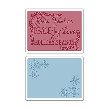 Sizzix® Textured Impressions Embossing Folder, Snowflake Season Set