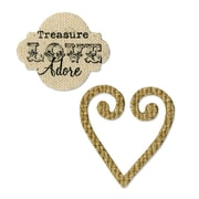 Sizzix® Movers & Shapers Magnetic Die Set 2PK, Heart & Label Set