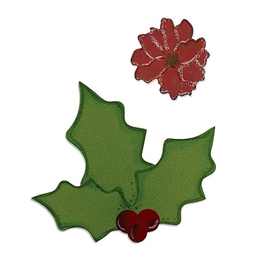 Sizzix® Bigz Die With Bonus Embosslits, Holly and Poinsettia