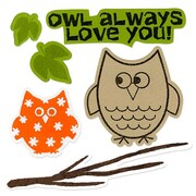 Sizzix® Framelits Die Set With Stamps, Autumn Owls