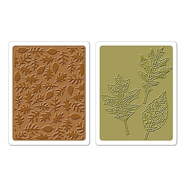 Sizzix® Texture Fades Embossing Folder, Textured Leaves Set