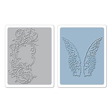 Sizzix® Texture Fades Embossing Folder, Flourish and Wings Set