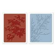 Sizzix® Texture Fades Embossing Folder, Brush Poinsettias and Winter Berries