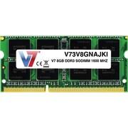 V7® V73V8GNAJKI 8GB (204-Pin SO DIMM) PC3-12800 Notebook Memory