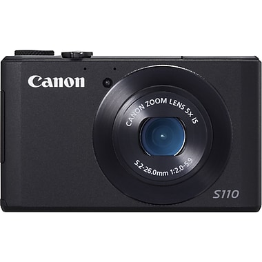 Canon® PowerShot S110 Digital Compact Camera With 3in. LCD, 12.1 Megapixel, Black