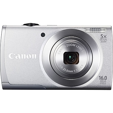 Canon® PowerShot A2600 Compact Camera With 3in. LCD, 16 Megapixel, Silver