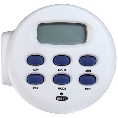 AmerTac™ TE04WHB Indoor 1-Outlet Weekly Digital Timer