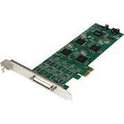 StarTech.com® PEX8S1052 8 Port Low Profile PCI Express RS232 Serial Adapter Card w/ 161050 UART