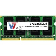 V7 V73V8GNZJII 8GB DDR3 204-Pin Laptop Memory Module