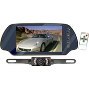 Pyle® PLCM7200 7 TFT Mirror Monitor With License Plate Mount Rear View Night Vision Camera