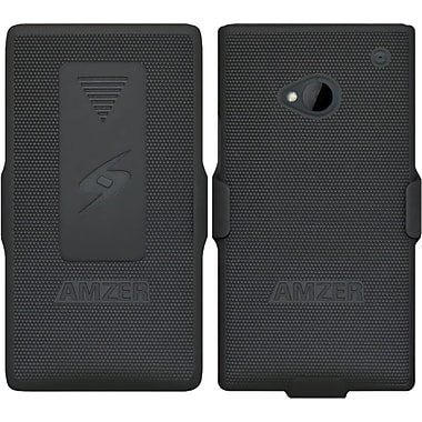 Amzer® Shellster™ Case For HTC One, Black