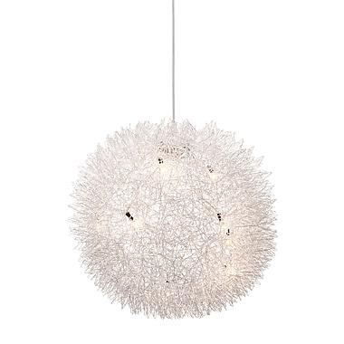 Zuo® 50027 Warp 10 W Halogen Ceiling Lamp, Aluminum