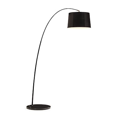 Zuo® 100 W Twisty Floor Lamp, Black With Black Base