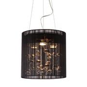 Zuo® 50084 Subatomic 50 W Halogen Ceiling Lamp, Black