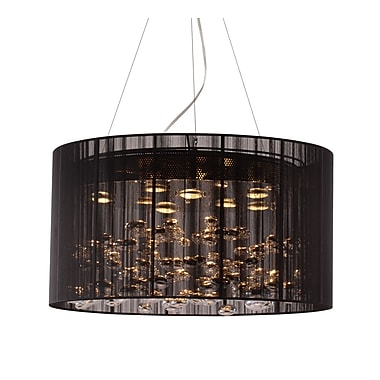Zuo® 50085 Symmetry 50 W Halogen Ceiling Lamp, Black
