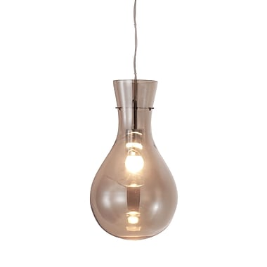 Zuo® 50090 Nuclear 60 W Incandescent Ceiling Lamp Smoked, Chrome