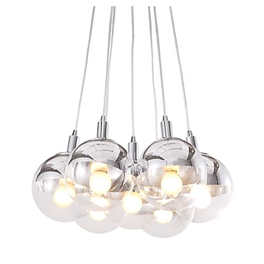 Zuo® 50101 Time 40 W Incandescent Ceiling Lamp, Chrome