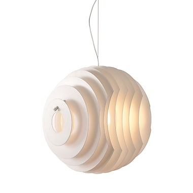 Zuo® 50103 Intergalactic 60 W Incandescent Ceiling Lamp, White