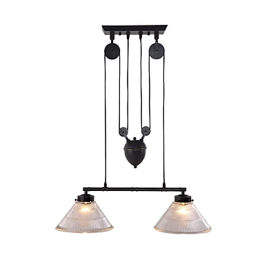 Zuo® 98232 Garnet 60 W Incandescent Ceiling Lamp, Antique Black Gold