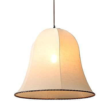 Zuo® 98243 Granite 100 W Incandescent Ceiling Lamp, Beige