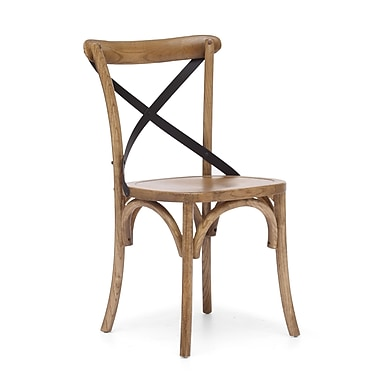 Zuo® Elm Wood Union Square Chairs, Natural