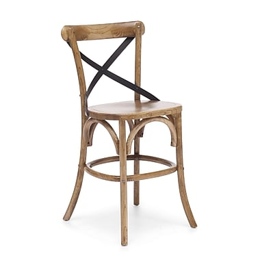 Zuo® Elm Wood Union Square Counter Chair, Natural