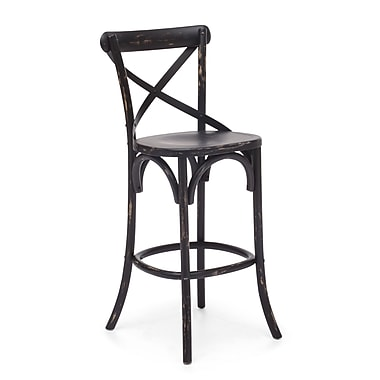 Zuo® Elm Wood Union Square Bar Chair, Black