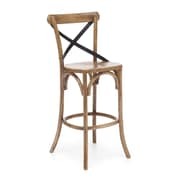 Zuo® Elm Wood Union Square Bar Chair, Natural