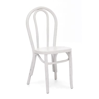Zuo® Elm Wood Nob Hill Chairs, White