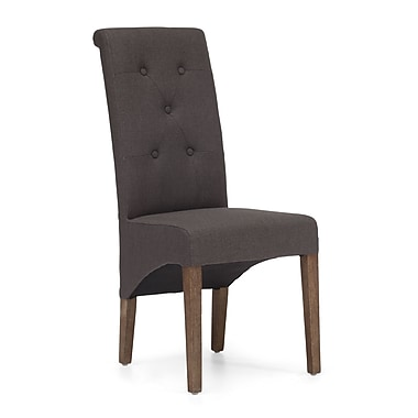 Zuo® Polyester Linen Hayes Valley Chairs, Charcoal Gray