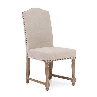 ZuoMD – Chaises en polyester et lin de la collection Richmond, beige