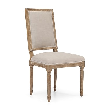 Zuo® Polyester Linen Cole Valley Chairs, Beige
