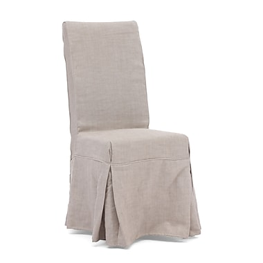 Zuo® Polyester Linen Dog Patch Chairs, Beige