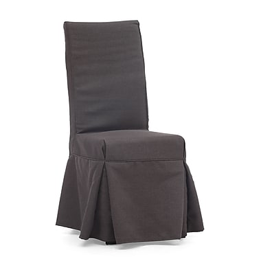 Zuo® Polyester Linen Dog Patch Chairs, Charcoal Gray
