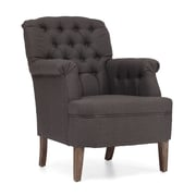 Zuo® Castro Polyester Linen Armchair, Charcoal Gray