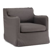 Zuo® Pacific Heights Polyester Linen Armchair, Charcoal Gray