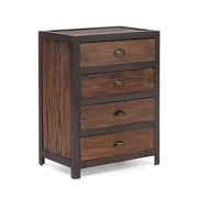 Zuo® Fort Mason 32.3H 4 Drawer Cabinet, Distressed Natural