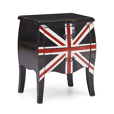 Zuo® Union Jack 27.6in.H Small Cabinet, Distressed Black