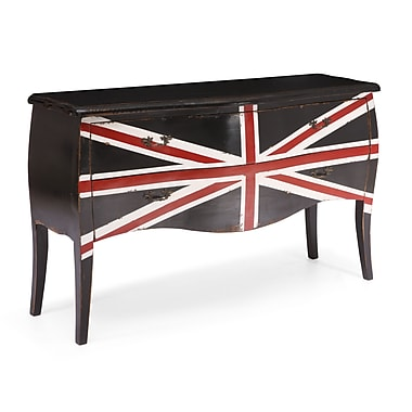 Zuo® Union Jack 34.3in.H Large Cabinet, Distressed Black