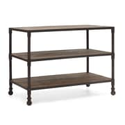 Zuo® Mission Bay Metal/Fir Wood Wide 3 Level Shelf, Distressed Natural